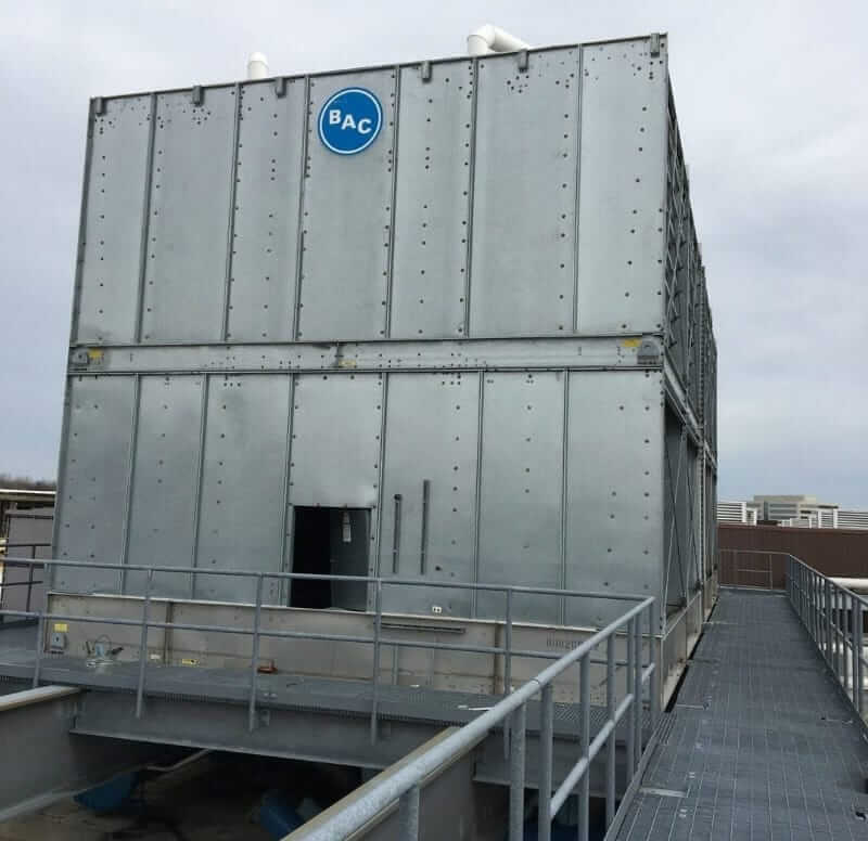 Reconditioned Cooling Tower BAC with stainless hot and cold water basins